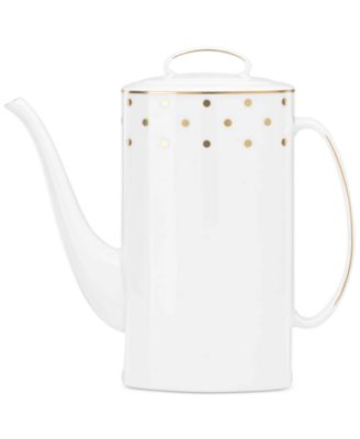 kate spade new york larabee road gold collection 2pc bone china lidded coffeepot