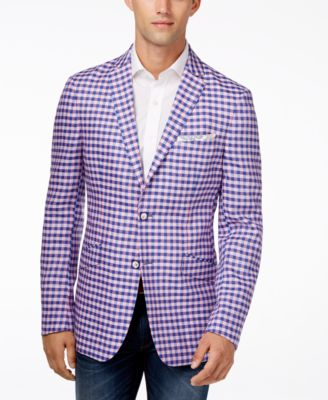 Tallia Men's Viking Slim-Fit Plaid Sport Coat - Blazers & Sport ...