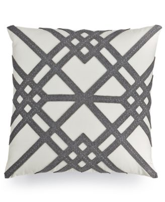 "Hotel Collection Modern Airbrush Geo 18"" Square Decorative Pillow, Only at Macy's"