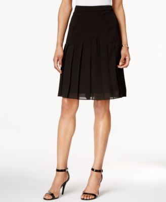 Anne Klein Pleated Knit Skirt - Women's Brands - Women - Macy's