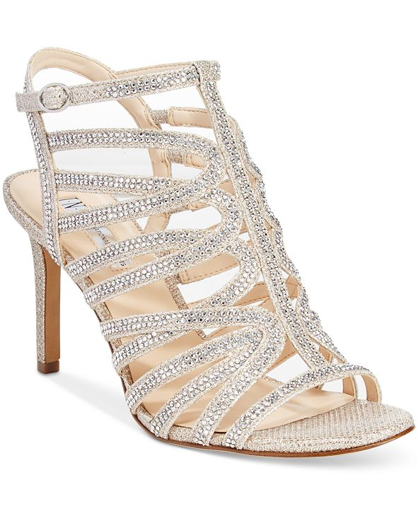 INC International Concepts INC Women's Gawdie Caged Sandals, Created for Macy's