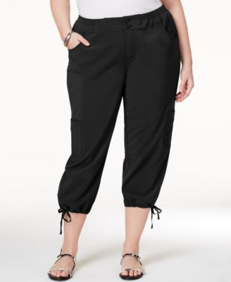 Karen Scott Plus Size Seersucker Capri Pants, Only at Macy's ...
