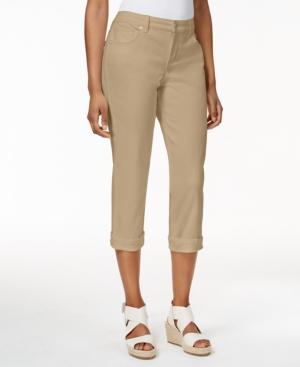 Style & Co. Petite Tummy-Control Cuffed Capri Jeans