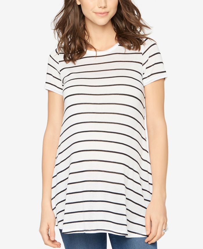 A Pea in the Pod - Maternity Striped Scoop-Neck Tee