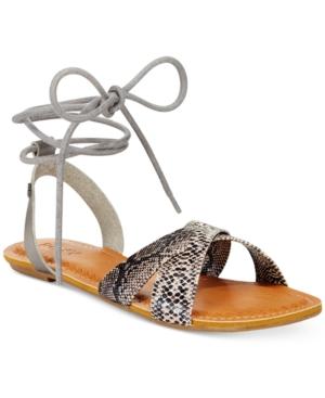 Roxy Tel Aviv Tie-Up Flat Sandals Women's Shoes