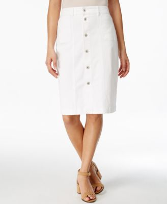 Style & Co. Button-Front Midi Denim Skirt, Only at Macy's - Skirts ...