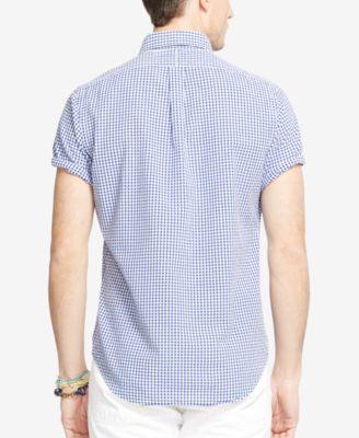 Polo Ralph Lauren Short-Sleeve Seersucker Shirt - Casual Button ...