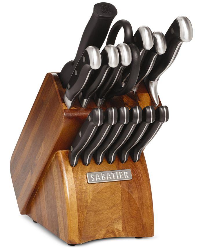 Sabatier - 15-Pc. Acacia Block Cutlery Set