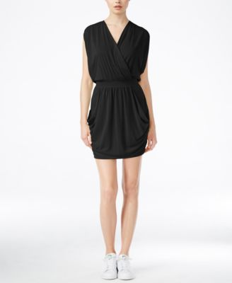 Rachel Roy Short Sleeve Faux Wrap Dress