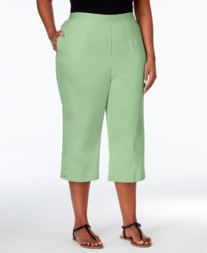 Alfred Dunner Plus Size Sao Paolo Collection Pull-On Capri Pants $44.99 AT vintagedancer.com