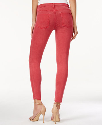 Hudson Jeans Nico Red Stone Wash Cutoff Skinny Ankle Jeans - Jeans ...