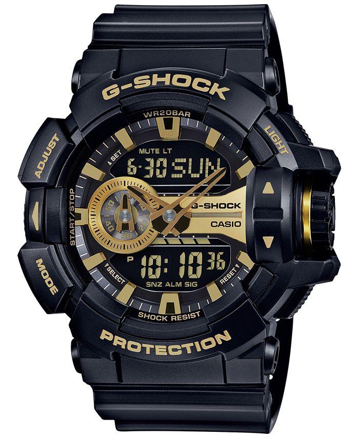 G-Shock - Men's Analog-Digital Chronograph Black Resin Strap Watch 55x52mm GA400GB-1A9