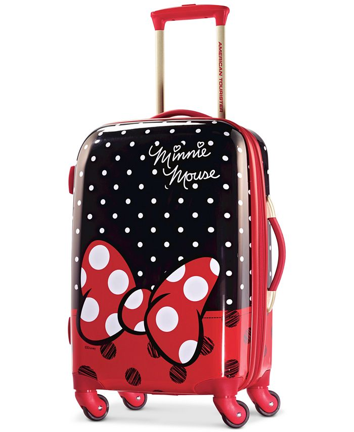 "American Tourister - Disney Minnie Mouse Red Bow 21"" Hardside Spinner Suitcase"