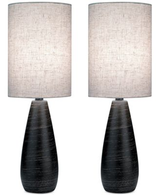 Lite Source Set of 2 Quatro Table Lamps