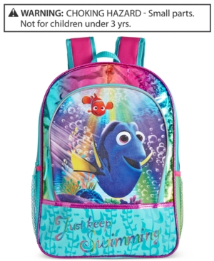 Global Design Concepts Little Girls' or Toddler Girls' Just Keep Swimming Dory Backpack