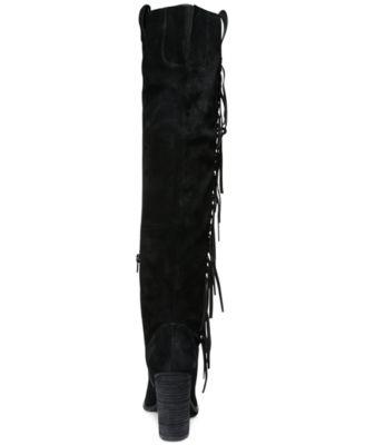 Carlos by Carlos Santana Garrett Knee-High Fringe Boots - Boots ...