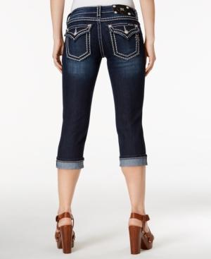 Miss Me Rhinestone Cropped Skinny Jeans