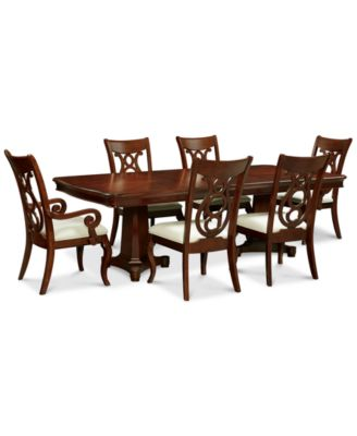 Awesome Bordeaux Pedestal 7 Pc. Dining Set (Dining Table, 4 Side Chairs And