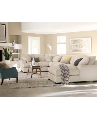 Great Ainsley 2 Pc. Chaise Sectional With 6 Toss Pillows