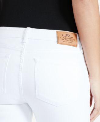 Lauren Ralph Lauren Stretch Modern Curvy Straight-Leg Jeans, White ...