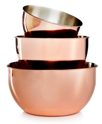 Martha Stewart Collection 3-Pc. Copper-Plated Mixing Bowl Set, Only at Macy's
