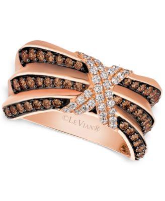 Le Vian Chocolatier Pleated™ Diamond X Ring 3 4 ct t w in