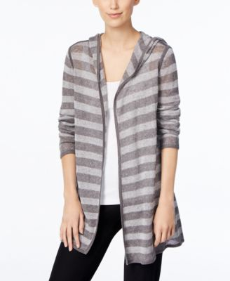 Eileen Fisher Petite Linen Hooded Cardigan - Sweaters - Women - Macy's