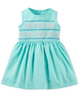 Carter's 2-Pc. Cardigan & Embroidered Dress Set, Baby Girls