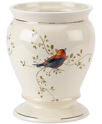 Reg   50 00. Avanti Bath Accessories  Gilded Birds Trash Can   Bathroom
