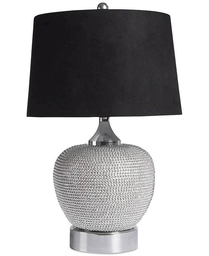 Abbyson Living - Rory Silver-Tone Beaded Table Lamp