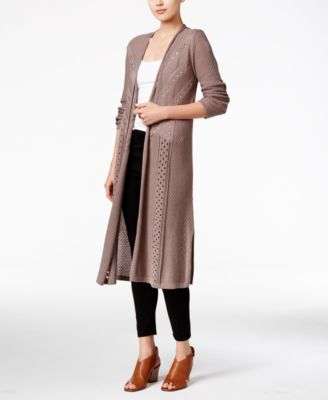 Style & Co. Pointelle-Knit Duster Cardigan, Only at Macy's ...