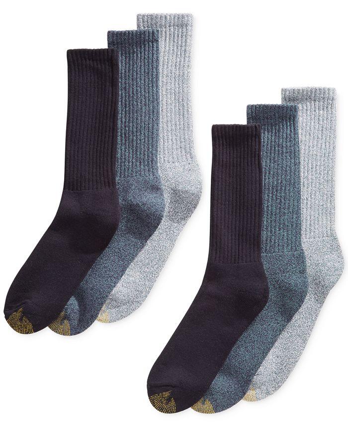 Gold Toe - Men's 6-Pk. Harrington Crew Socks