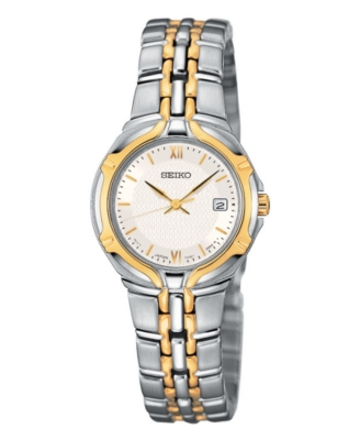 Seiko Watch, Women's Two Tone Stainless Steel Bracelet SXD646