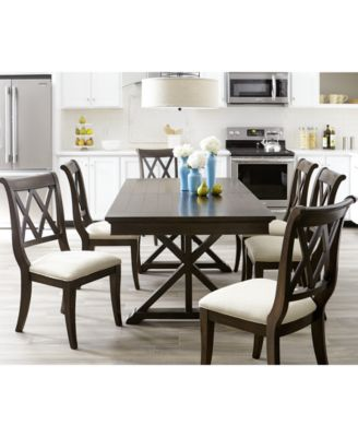 Baker Street Dining Furniture 7 Pc Set Table 6 Side Chairs