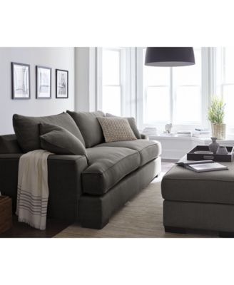 ainsley fabric sofa with 4 toss pillows only at macyu0027s - Macys Living Room Furniture