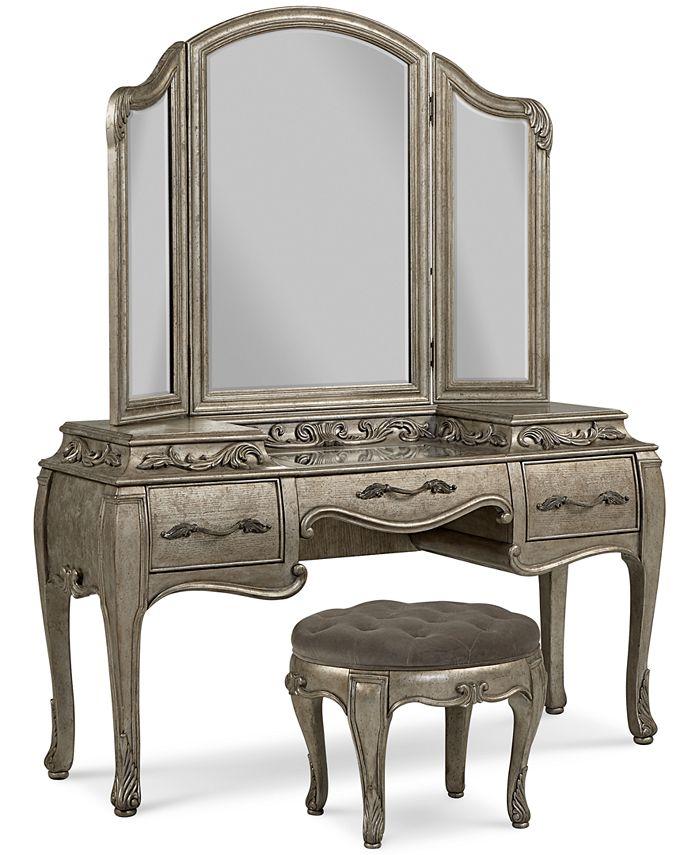 Furniture Zarina 3 Pc Vanity Set, Vanity Mirror Sets Furniture