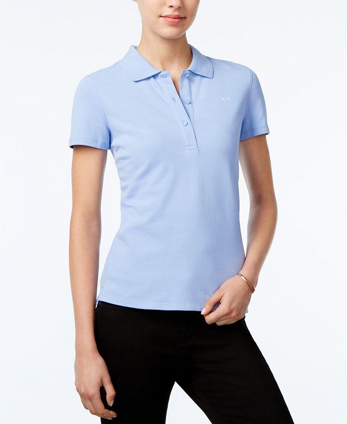 Armani Exchange - Short-Sleeve Polo Top