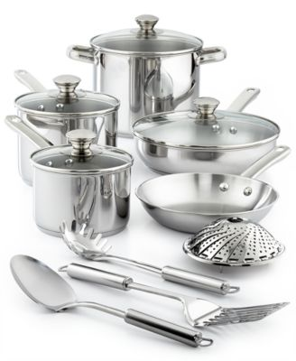 Image of Tools of the Trade Stainless Steel 13-Pc. Cookware Set, Only at Macy's