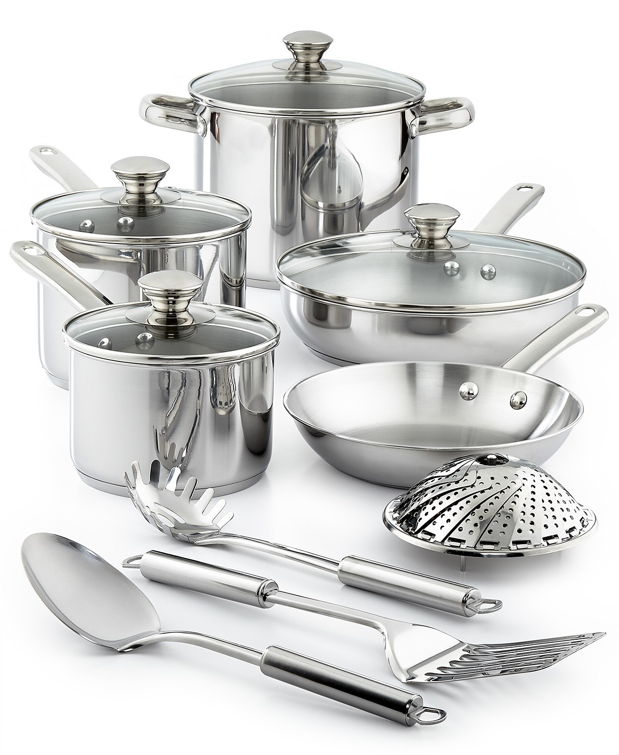 (75% OFF Deal) Stainless Steel 13-PC Cookware Set $29.99
