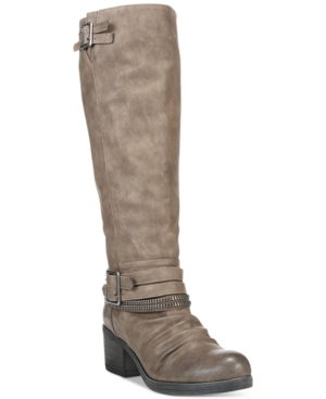 Carlos by Carlos Santana Candace Wide Calf Buckle Boots Women's Shoes