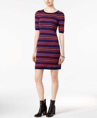 Tommy Hilfiger Striped Drop-Waist T-Shirt Dress - Dresses - Women ...