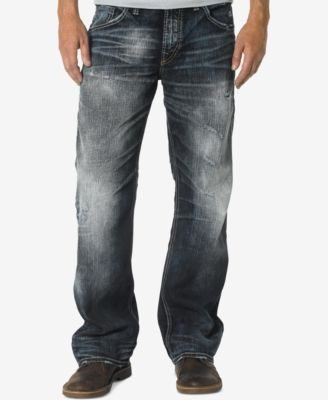 Silver Jeans Co. Men's Loose-Fit Straight-Leg Gordie Jeans - Jeans ...