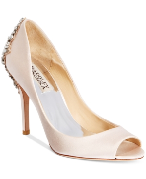 Badgley Mischka Nilla Peep-Toe Evening Pumps Women's Shoes