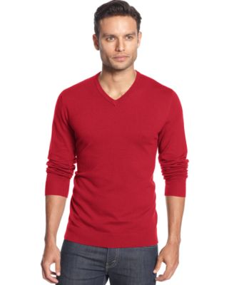 Image of Alfani Men's V-Neck Sweater