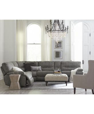 Liam Fabric Power Motion Sectional Sofa Living Room Furniture Collection Fu
