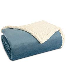 Madison Park Microlight Plush to Berber Twin Blanket