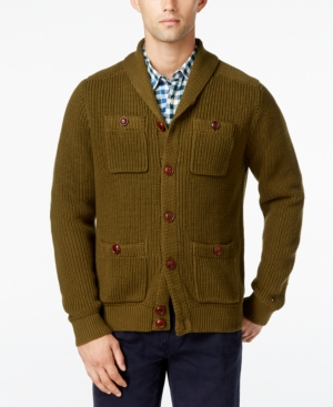 Men's Vintage Style Sweaters – 1920s to 1960s Tommy Hilfiger Mens Big  Tall Max Military Shawl-Collar Cardigan $179.00 AT vintagedancer.com