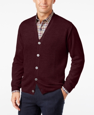 Men's Vintage Style Sweaters – 1920s to 1960s Weatherproof Vintage Mens Big and Tall Textured Cardigan $78.00 AT vintagedancer.com
