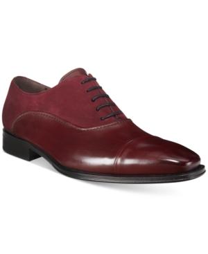Mezlan Men's Arlington Mixed-Media Cap-Toe Oxfords, Only at Macy's Men's Shoes