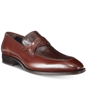 Mezlan Men's Ryan Loafers With Ostrich Vamp, Only at Macy's Men's Shoes